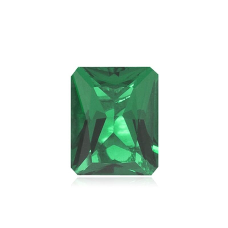 Lab Created Hydrothermal Emerald Green Octagon Radiant Loose Stone (4x2-16x12mm)