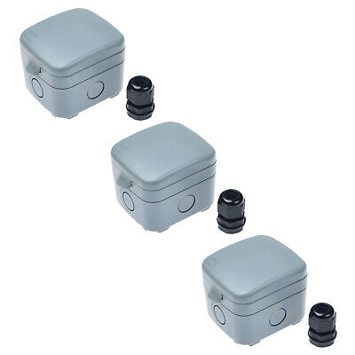 3 Pack 15a Weatherproof Waterproof Outdoor Garden Shed Switch Ip66 Junction Box
