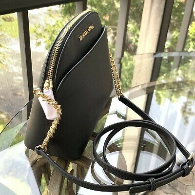 Michael Kors Women Lady Leather Black Crossbody Bag Handbag Messenger Purse MK