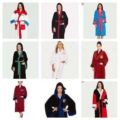Womens Ladies Fleece Character Superhero Villain Dressing Night Gown Robe Mules - Superhero Nightgown