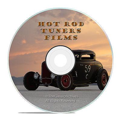 - 50's HOT ROD OPEN ROAD ROADSTERS, RAT RODS FILMS, OLD SCHOOL STREET RACERS -J23