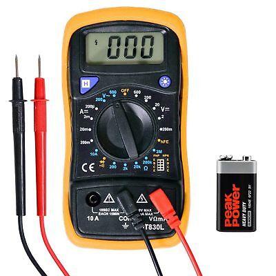 Us Stock Digital Voltmeter Ammeter Ohmmeter Multimeter Volt Ac Dc Tester Meter