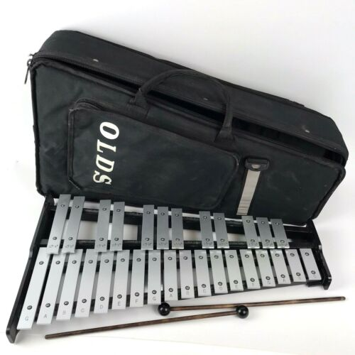 Olds Xylophone With carrying case Rhythm Band Vtg Musical Instrument Percussion