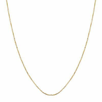 Eternity Gold Classic Box Chain in 10K Gold, 19