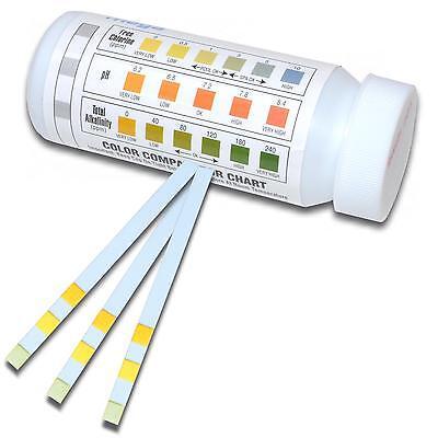 50 Pool Wasser Teststreifen | 3 in 1 | Messung von PH - Chlor - Alkalinität