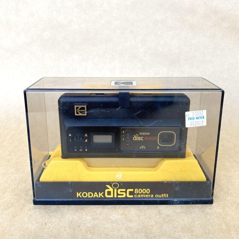 Kodak Disc 8000 Camera Outfit, W/ Case, Film & Strap, VINTAGE! NICE!