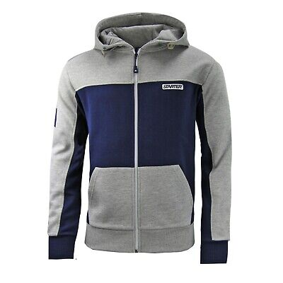 Starter Zip Up Track Top Mens Hooded Sweatshirt Jumper Grey Marl CPE00039 A25C