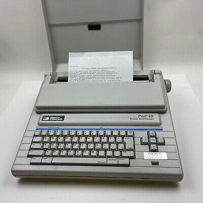 Smith Corona Pwp 40 Model 5d Typewriter Electronic Word Processor Daisy Wheel