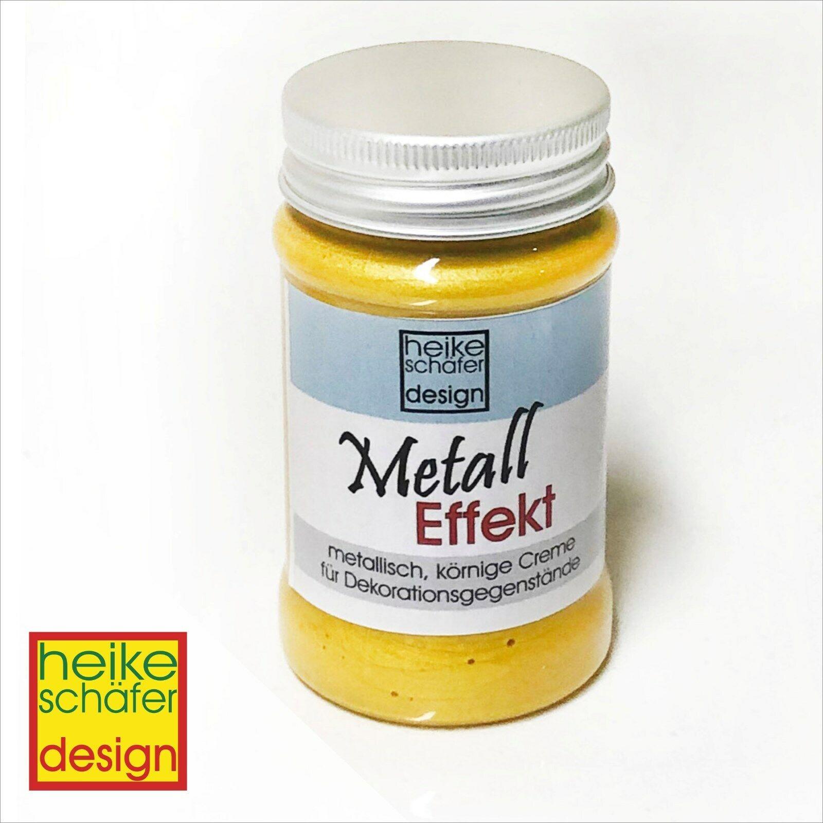 Metall Effekt Creme in Gelb 90ml -Neu-  Heike Schäfer Design