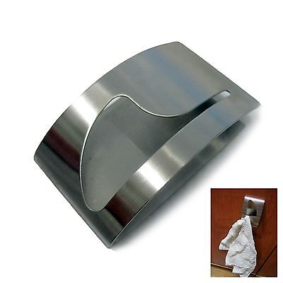 New Stainless Steel Towel Holder Adhesion Wall Mounted Towel Rack Kitchen Silver