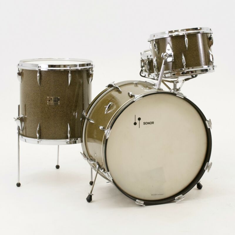 Vintage 1960s Sonor Teardrop 4-Pc. Drumset, Kristal Finish