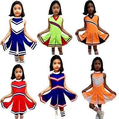 Kinder/Mädchen Cheerleader-Kostüm/Uniform Cosplay Fasching Halloween Gr.S-XXL
