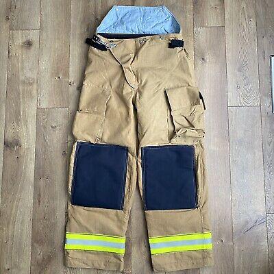 Globe Gx-7 Turnout Gear Trousers Pants 36 Tan Waterproof Quilt Liner Firefighter
