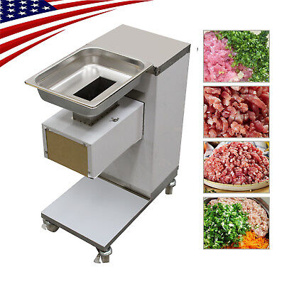 110v Meat Cutting Machinemeat Cutter Slicer 500kg Output With One Set Blade 3mm