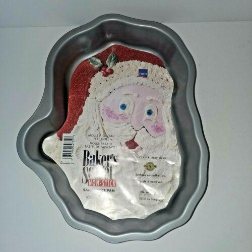 EKCO Bakers Secret Santa Face Cake Pan Non-Stick, Christmas