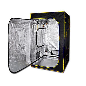 1.2 x 1.2 x 2m Hydroponics Grow Tent Mylar Dark Oxford Cloth Indoor Greenhouse