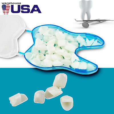 60pc Dental Temporary Crown Material For Anterior Teeth Front Teeth Porcelain Ce
