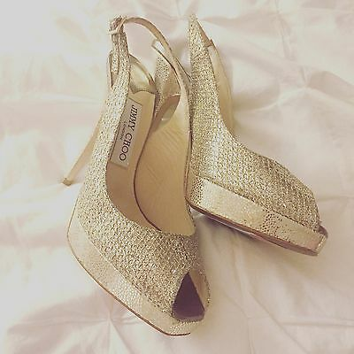 Jimmy Choo Lady Shoes, Size 6M, Clue' Glitter Slingback Pump (Nordstrom Exclus Jimmy Choo Nordstrom
