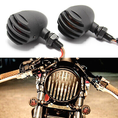 Used, For Harley-Davidson Sportster 1200 Motorcycle Grill Bullet Blinker Turn Signals for sale  USA