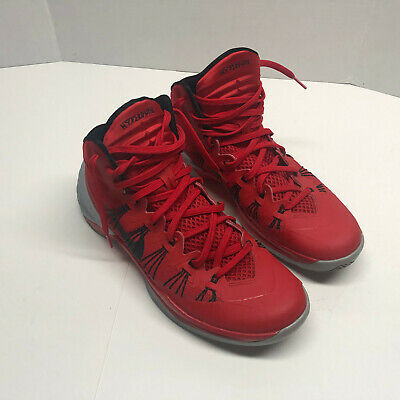 2962ead8463 Nike HYPERDUNK 2013 599537-600 University Red Black Grey Basketball Shoes  SZ 11