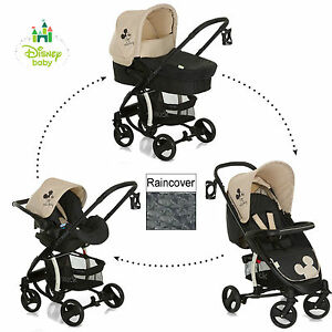 NEW HAUCK DISNEY CLASSIC MICKEY MOUSE CHARCOAL MIAMI 4 TRIO SET TRAVEL SYSTEM