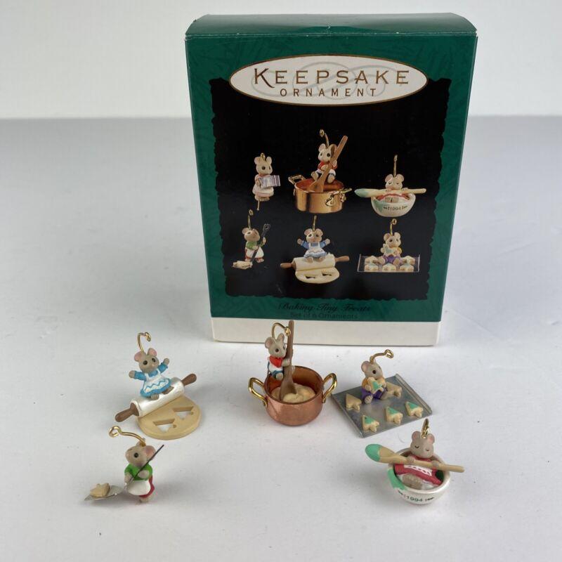 Hallmark Keepsake Baking Tiny Treats Miniature Ornaments 1994 (missing 1 Mouse)