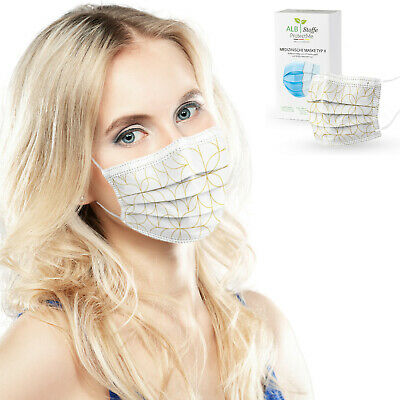 ALB Stoffe® ProtectMe GOLDEN WAY, 20x medizin. OP-Masken, CE-zert., Made in DE