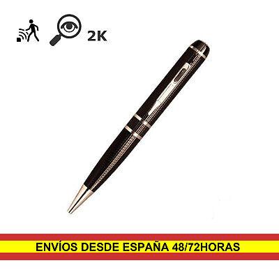 Boligrafo Camara Espia Oculta Super Full HD 1296P 2K H264 16GB Configurable