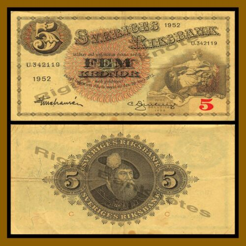 Sweden 5 Kronor, 1918-1952 P-33 Cir