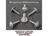 Torx Screws Made of Metal for VW Audi Fiat Citroen 10x Set Halterungsklammern