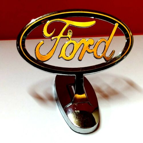 FORD HOOD ORNAMENT 3M SELF STICK ADHESIVE METAL BONNET MASCOT BADGE EMBLEM