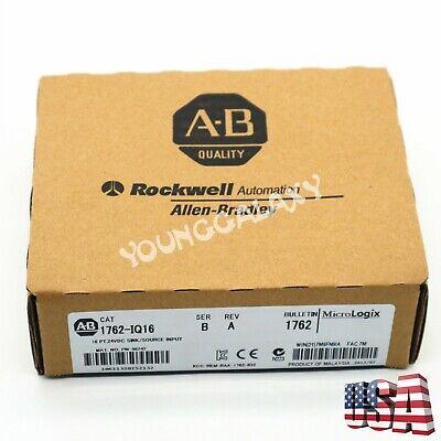 Allen-bradley Micrologix 16 Pt 24vdc Sinksource Input Cat 1762-iq16 Ser B