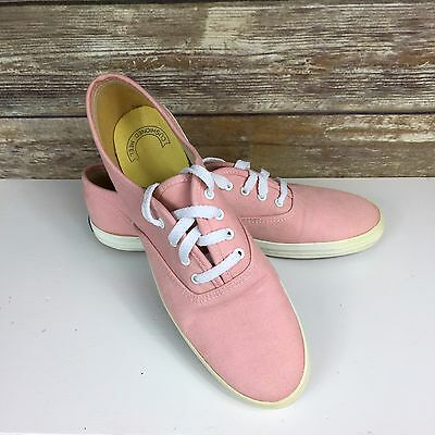 KEDS Vintage 80's Size 8.5S Pink Canvas Sneaker Made in Korea Tennis Shoes HTF!