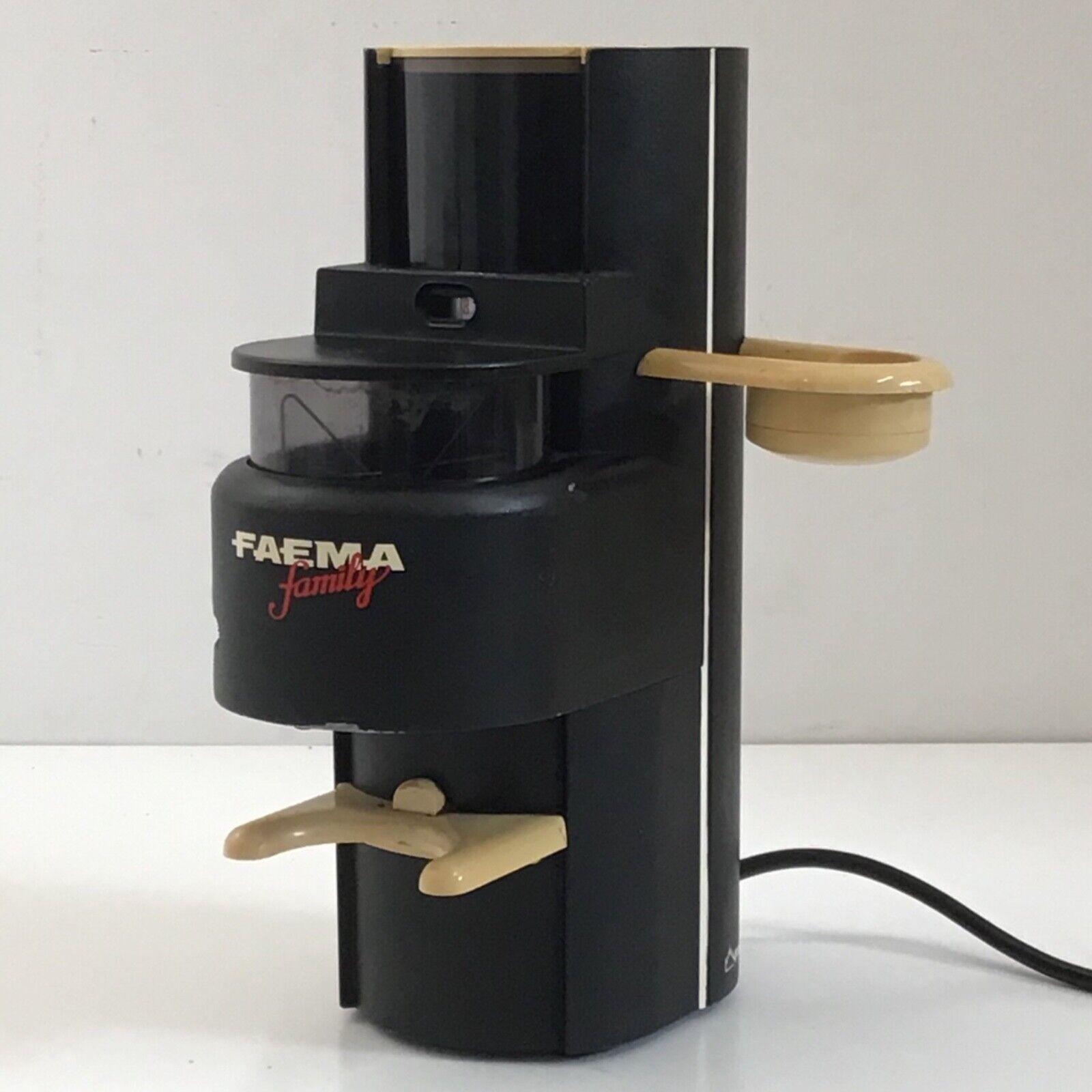 MACINA CAFFE' MACCHINA FAEMA FAMILY COFFEE GRINDER VINTAGE la pavoni gaggia