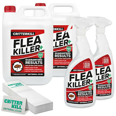 FLEA KILLER SPRAY & TRAPS - MULTI-KIT PROFESSIONAL STRENGTH PEST CONTROL