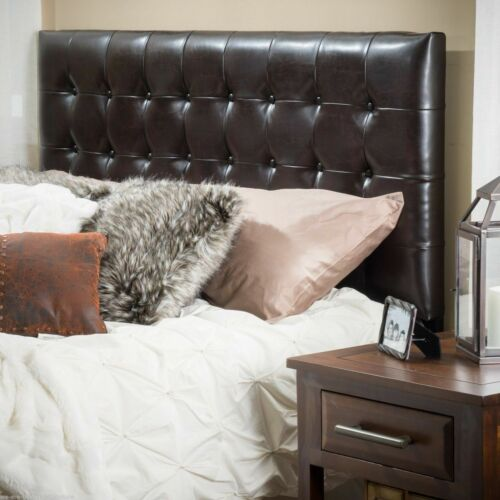 Lucca Tufted Bonded Leather King/Cal King Headboard Beds & Mattresses