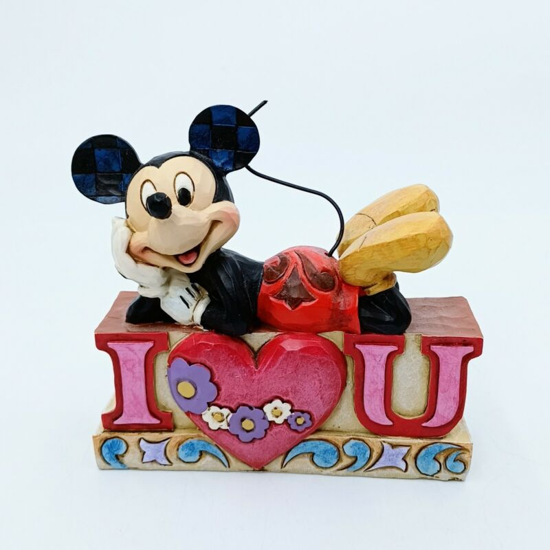 Disney Traditions by Jim Shore Mickey I Love You Figurine New in Box.