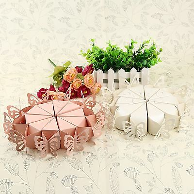10X Wedding Engagement Party Butterfly Cake Candy Favours Baby Shower Gift Boxes