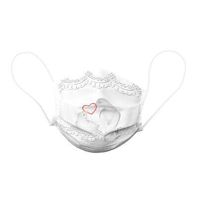 Kinder Gesichtsmaske Hochzeit, Tauben, Stoffmaske wiederverwendbar, Baumwolle