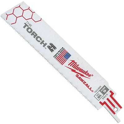 Milwaukee Torch Reciprocating Sawzall Blade 6 X 1 18 Tpi 48-00-5784 100 Pack