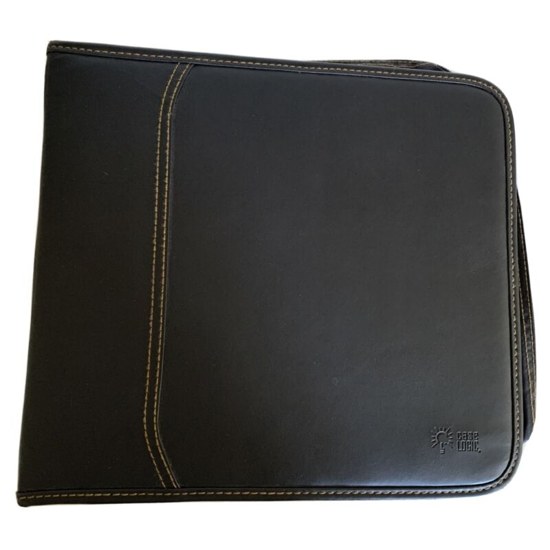 Case Logic CD/DVD 224 Capacity Classic CD/DVD Wallet Black Faux Leather