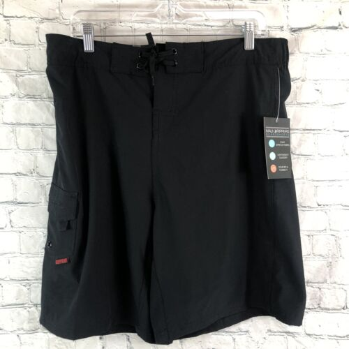 NWT Maui RIppers Womens Black 4 Way Stretch Swimsuit Board S