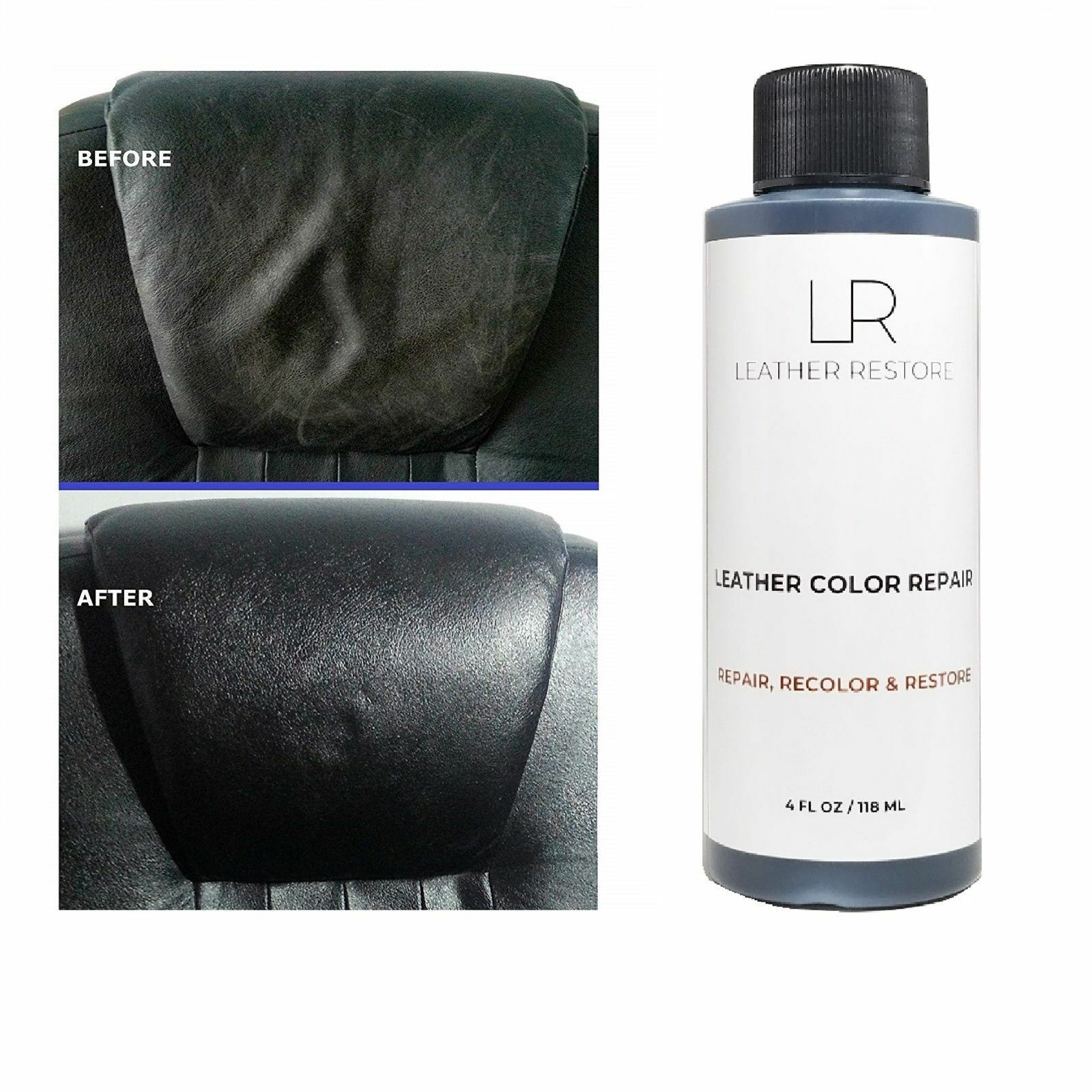 Espresso Very Dark Brown Leather Color Repair 4Oz Recolor Restorer Couch Car  - $15.95