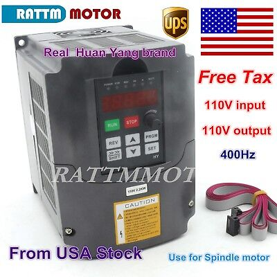 Us 2.2kw 110v Vfd Inverter 3hp Variable Frequency Drive 20a Vsd Cnc Hy Brand