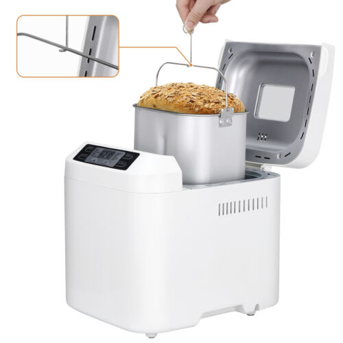 Bread Maker Machine 12 Presets 2 lbs Loaves Delay Function Nonstick Design Jams Bread Machines