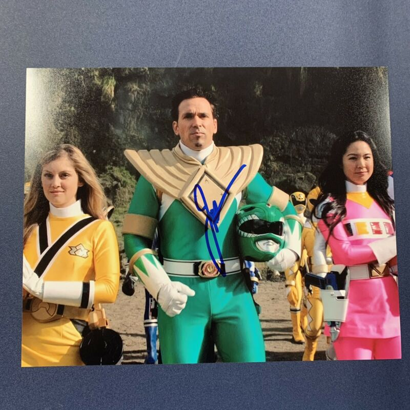 JASON DAVID FRANK SIGNED 8x10 PHOTO ACTOR AUTOGRAPHED GREEN POWER RANGERS COA