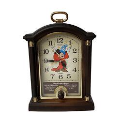 Seiko Quartz Disney Sorcerer Mickey Mouse Mantel Musical Alarm Clock