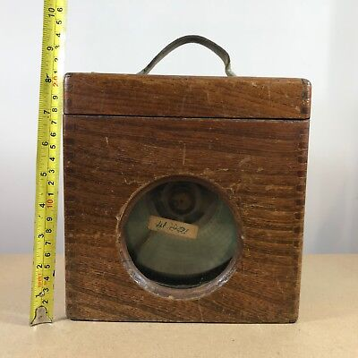 Vintage Oak-Cased ' Coulet Excelsior ' Racing Pigeon Clock . UNTESTED