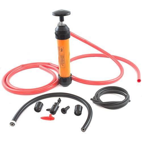 GASOLINE MANUAL TRANSFER HAND PUMP SIPHON KIT Fuel Diesel Oil Kerosene Water