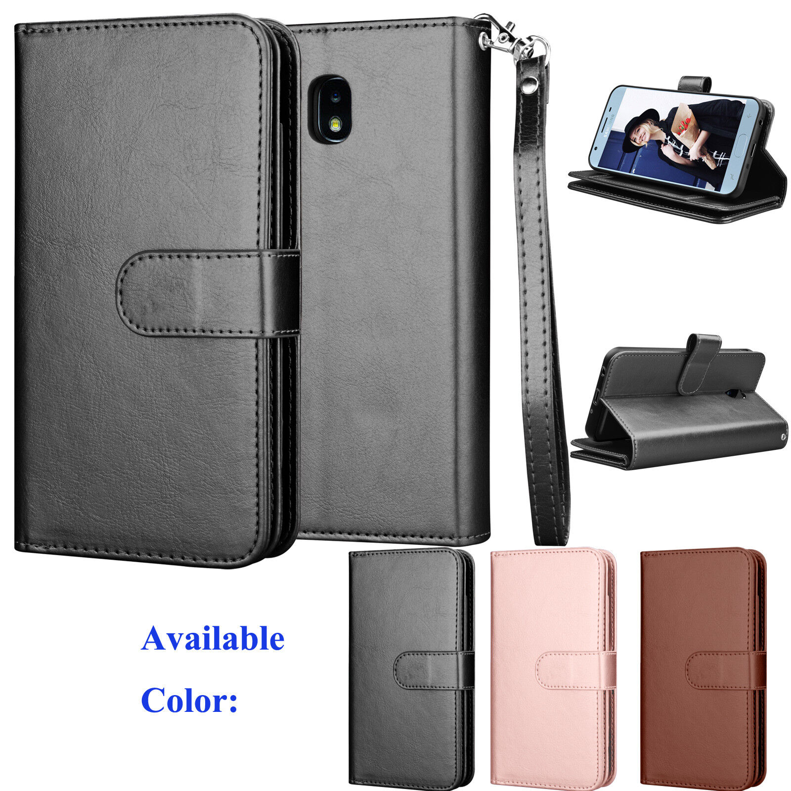 For Samsung Galaxy J3 2018/Express Prime 3 Leather Wallet Ca